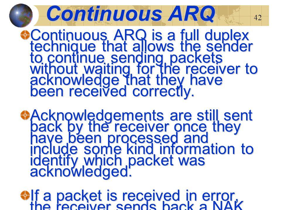 Continuous ARQ