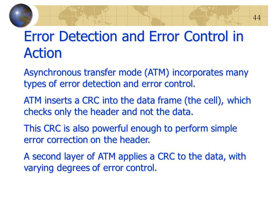 Error Detection and Error Control in Action