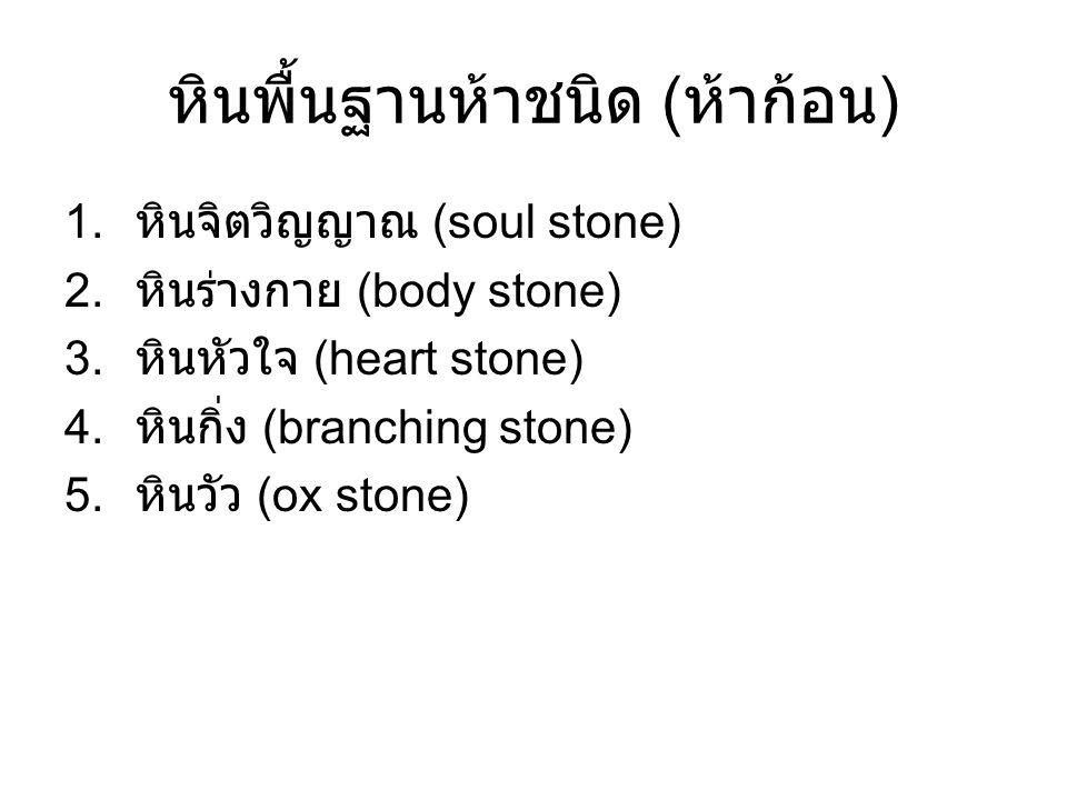หินพื้นฐานห้าชนิด (ห้าก้อน)