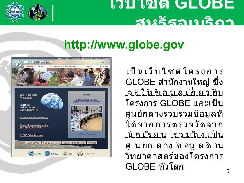 เว็บไซต์ GLOBE สหรัฐอเมริกา