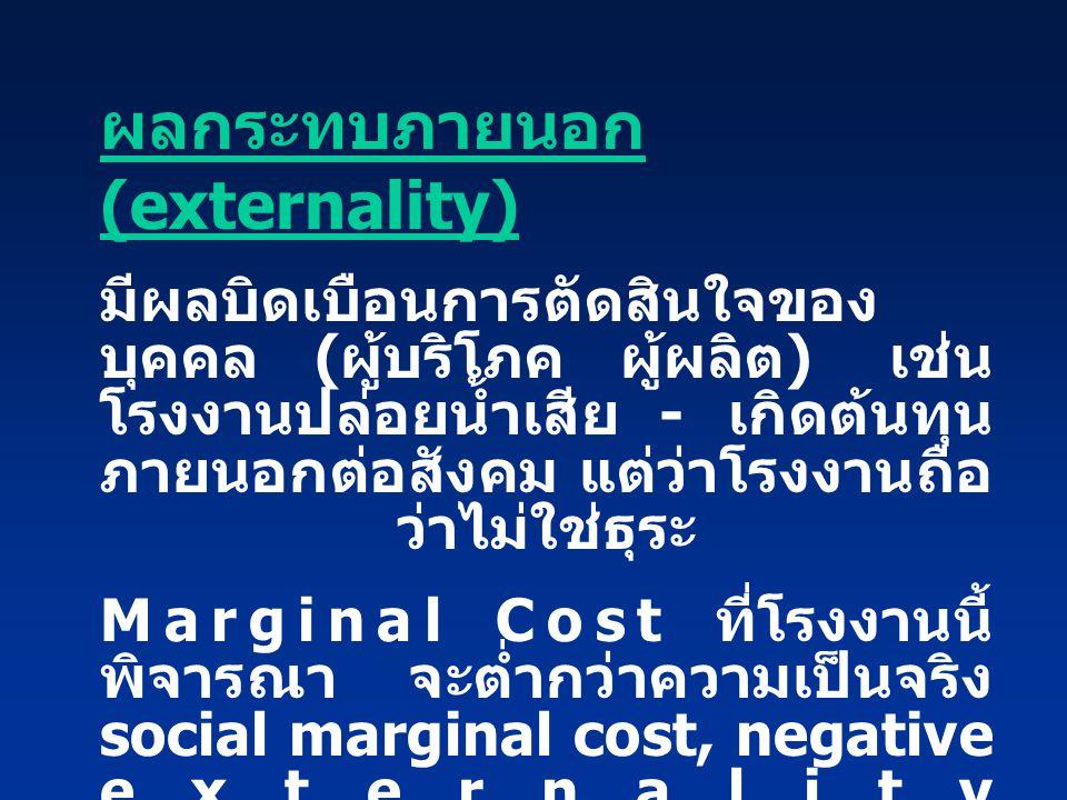ผลกระทบภายนอก (externality)