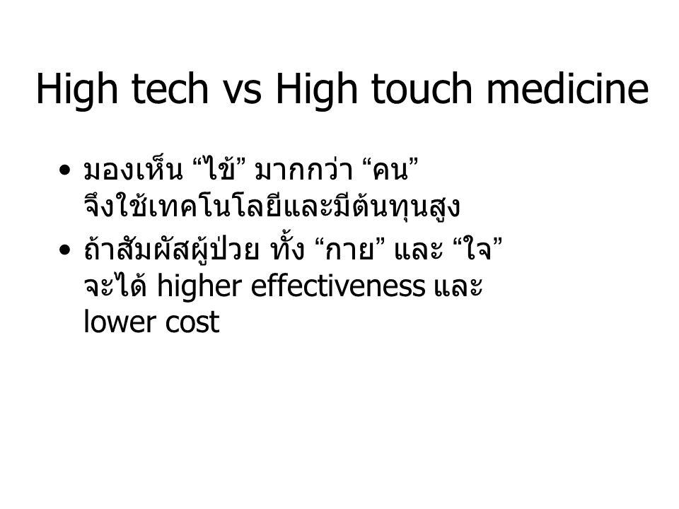 High tech vs High touch medicine