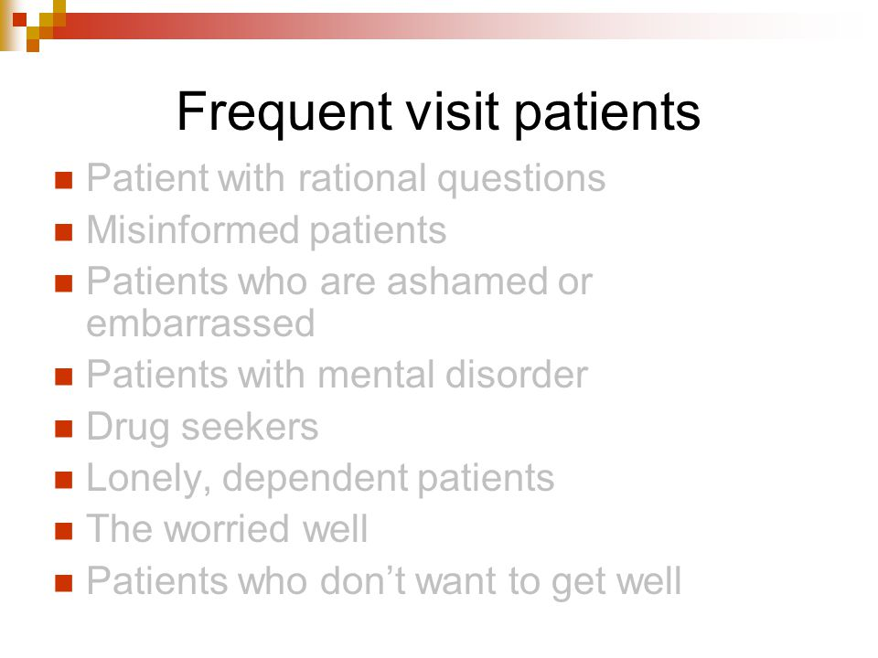 Frequent visit patients
