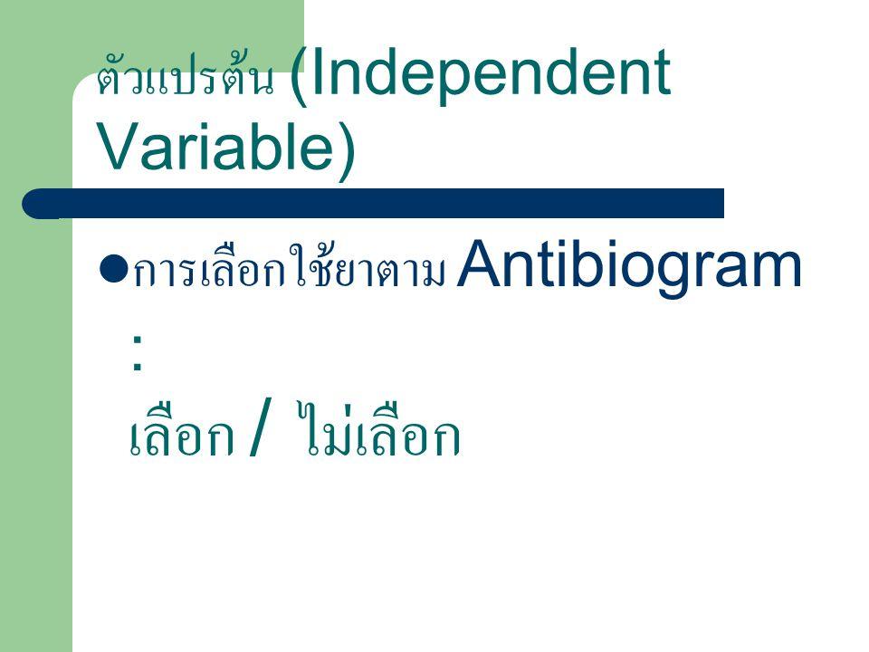 ตัวแปรต้น (Independent Variable)