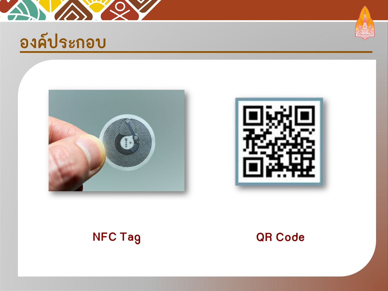 องค์ประกอบ NFC Tag QR Code