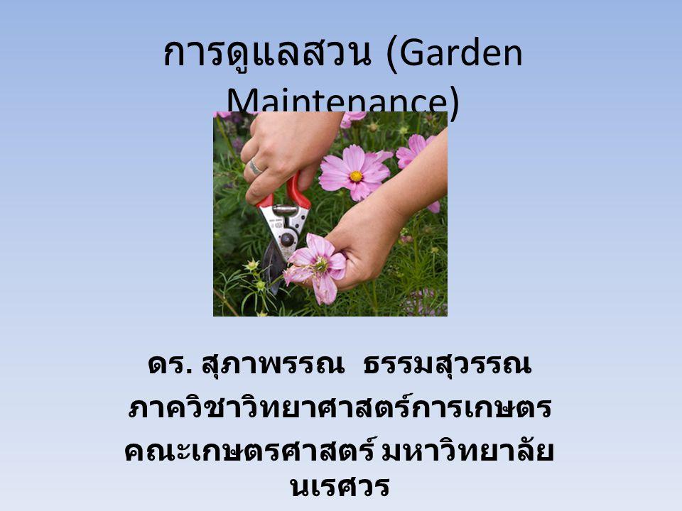 การดูแลสวน (Garden Maintenance)