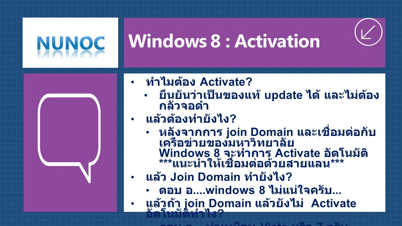 Windows 8 : Activation ทำไมต้อง Activate