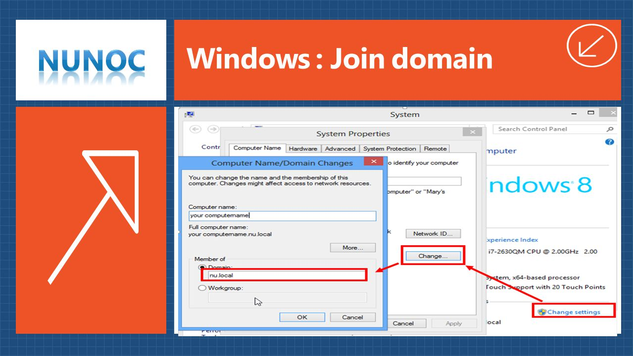 Windows : Join domain 4/4/2017 8:42 AM