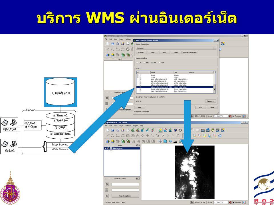 บริการ WMS ผ่านอินเตอร์เน็ต