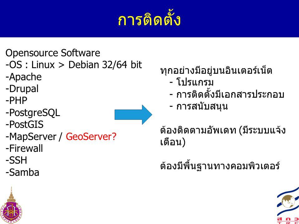การติดตั้ง Opensource Software -OS : Linux > Debian 32/64 bit