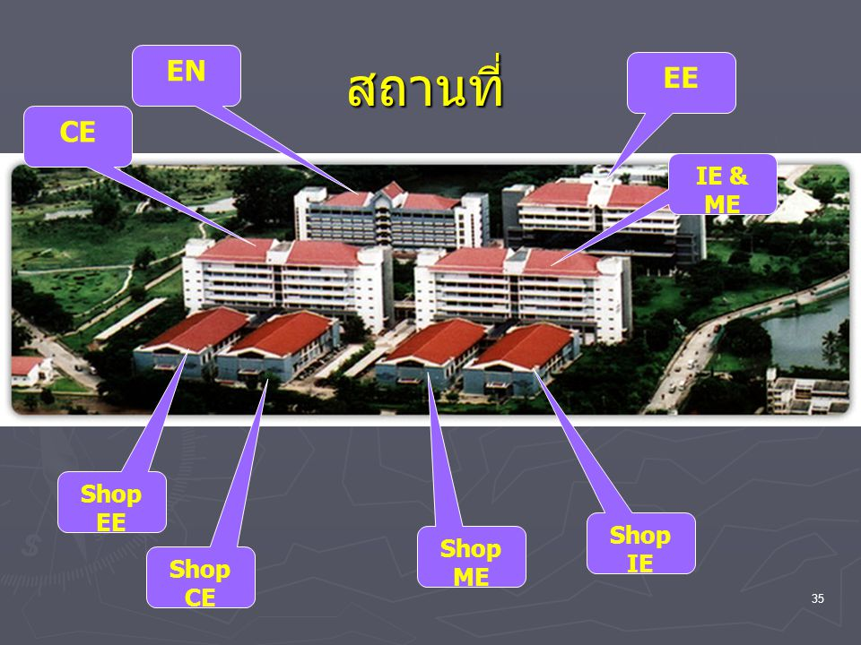 สถานที่ EN EE CE IE & ME Shop EE Shop IE Shop ME Shop CE