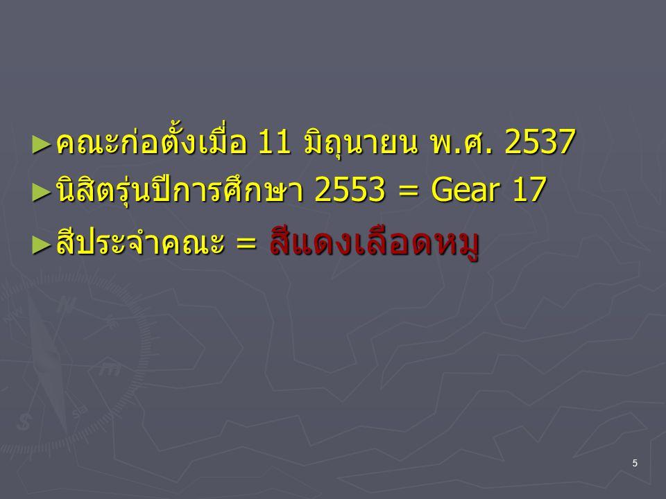 คณะก่อตั้งเมื่อ 11 มิถุนายน พ.ศ. 2537