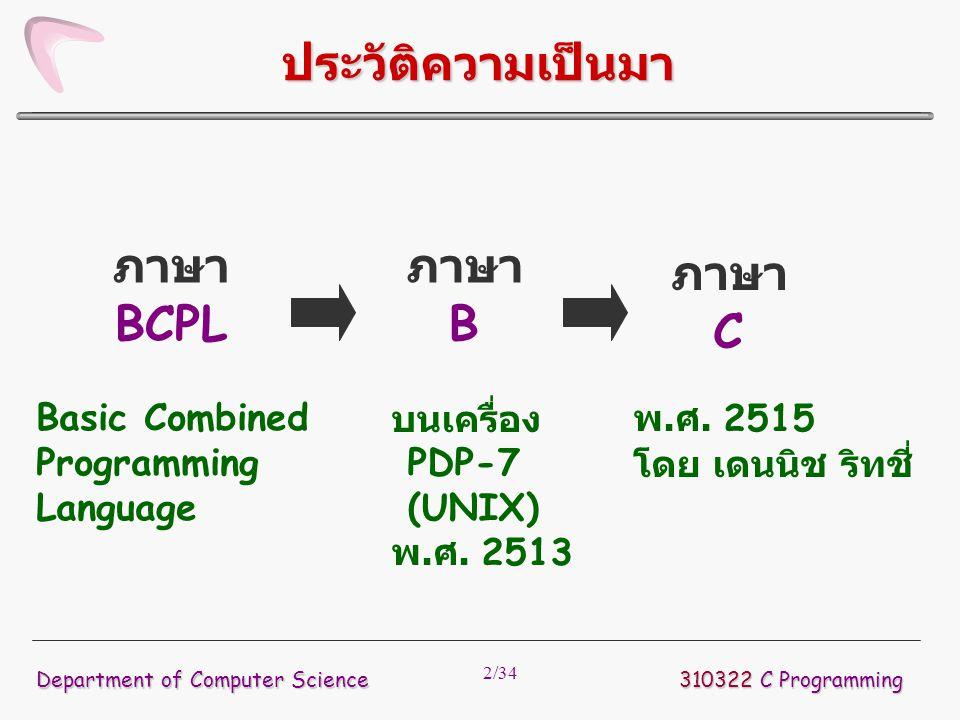 ประวัติความเป็นมา ภาษา BCPL