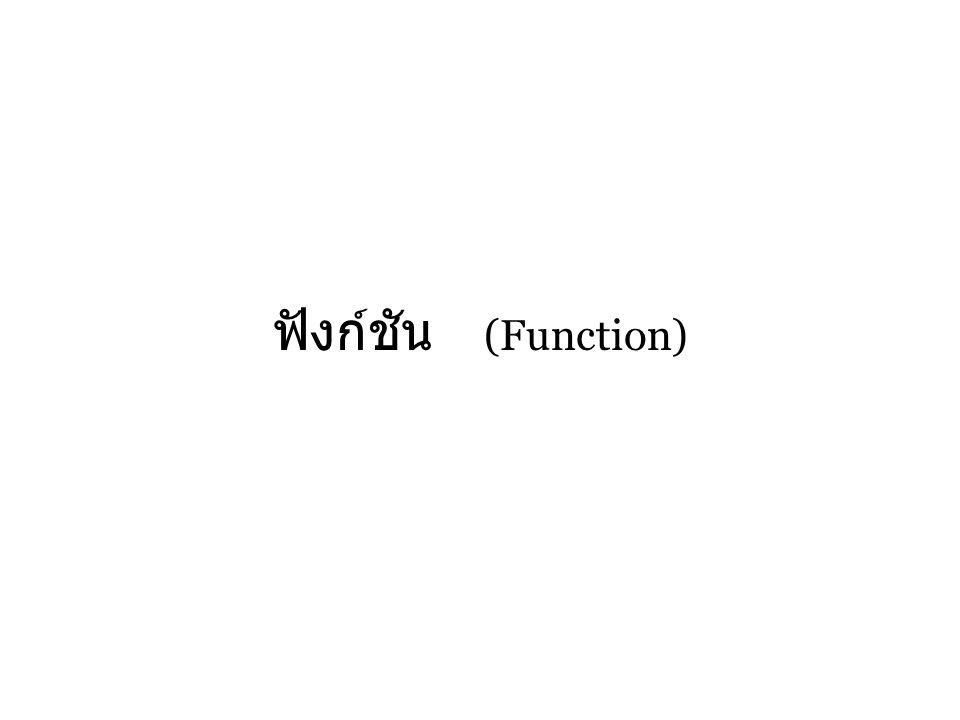 ฟังก์ชัน (Function)