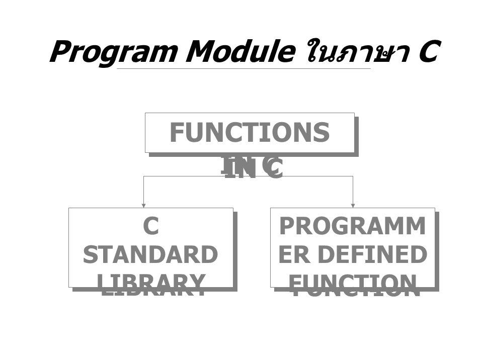 Program Module ในภาษา C