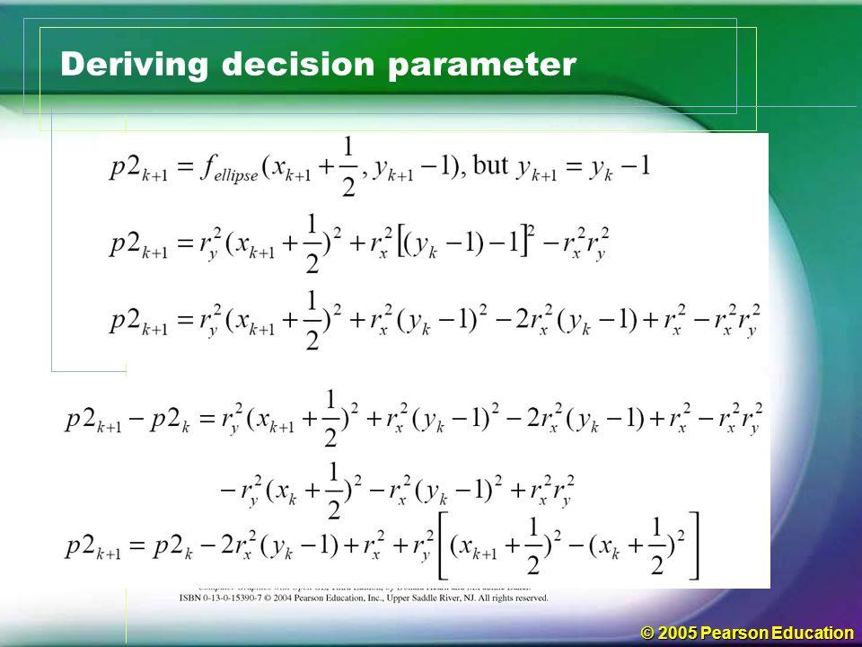 Deriving decision parameter