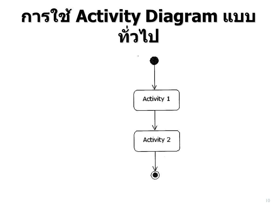การใช้ Activity Diagram แบบทั่วไป