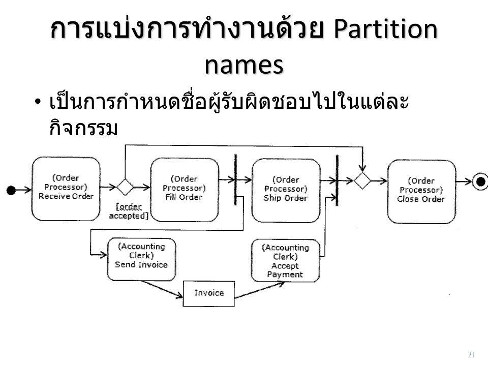 การแบ่งการทำงานด้วย Partition names