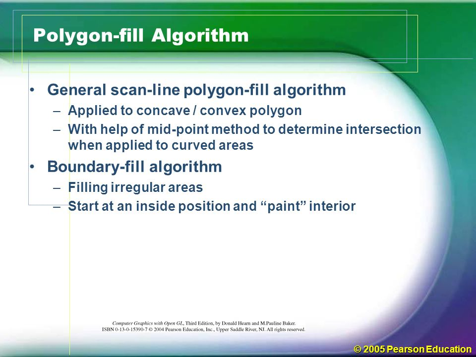 Polygon-fill Algorithm