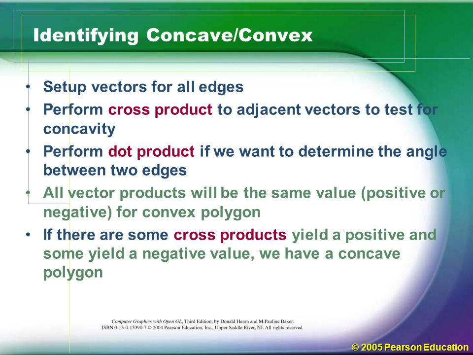 Identifying Concave/Convex