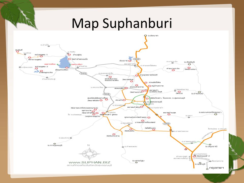 Map Suphanburi