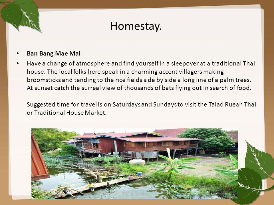 Homestay. Ban Bang Mae Mai