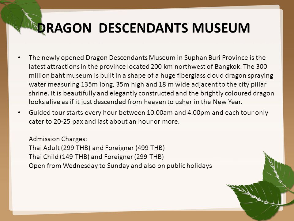 DRAGON DESCENDANTS MUSEUM