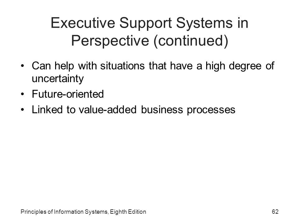 Executive Support Systems in Perspective (continued)