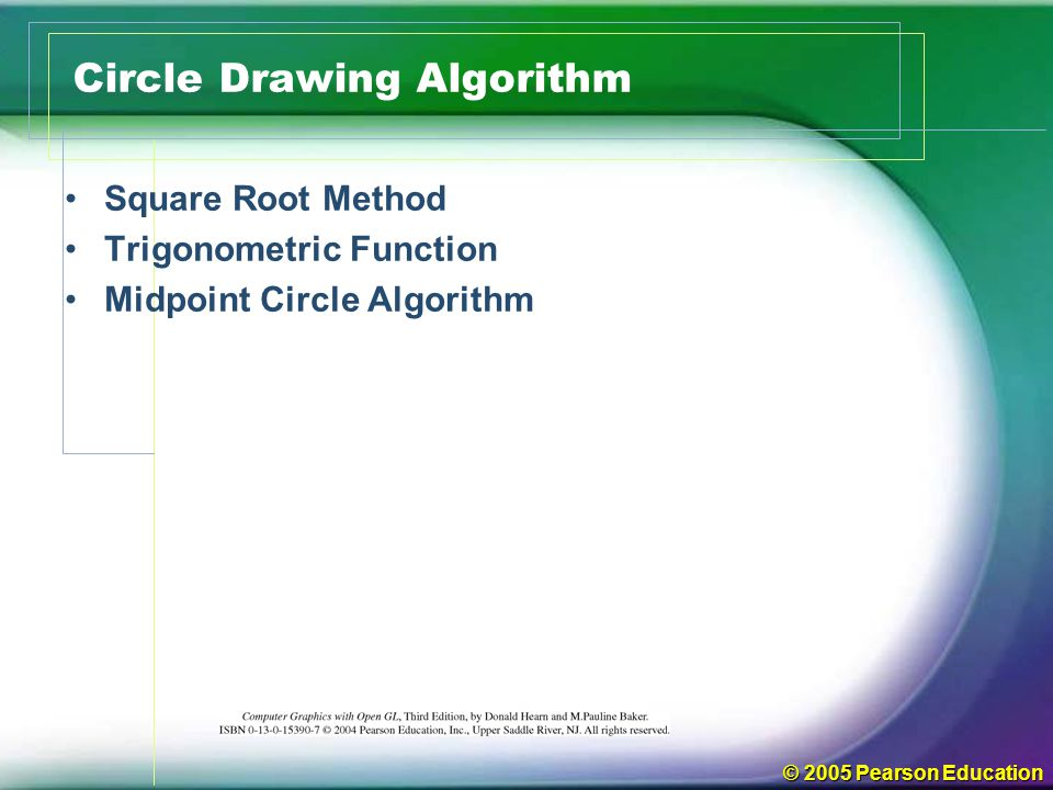 Circle Drawing Algorithm