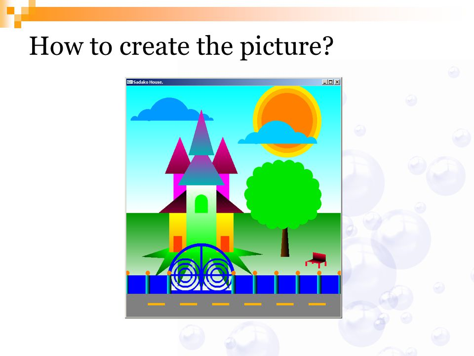 How to create the picture