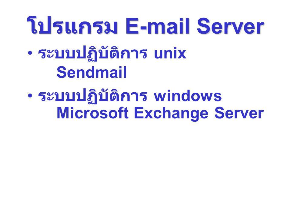 โปรแกรม E-mail Server ระบบปฏิบัติการ unix Sendmail