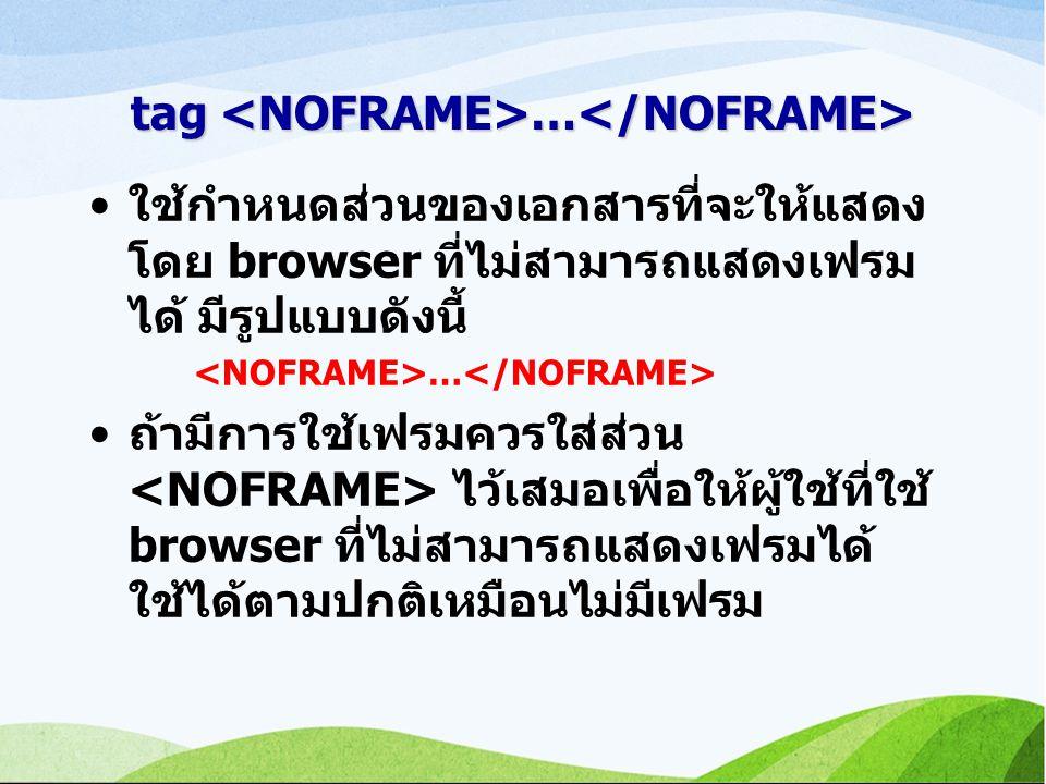 tag <NOFRAME>…</NOFRAME>
