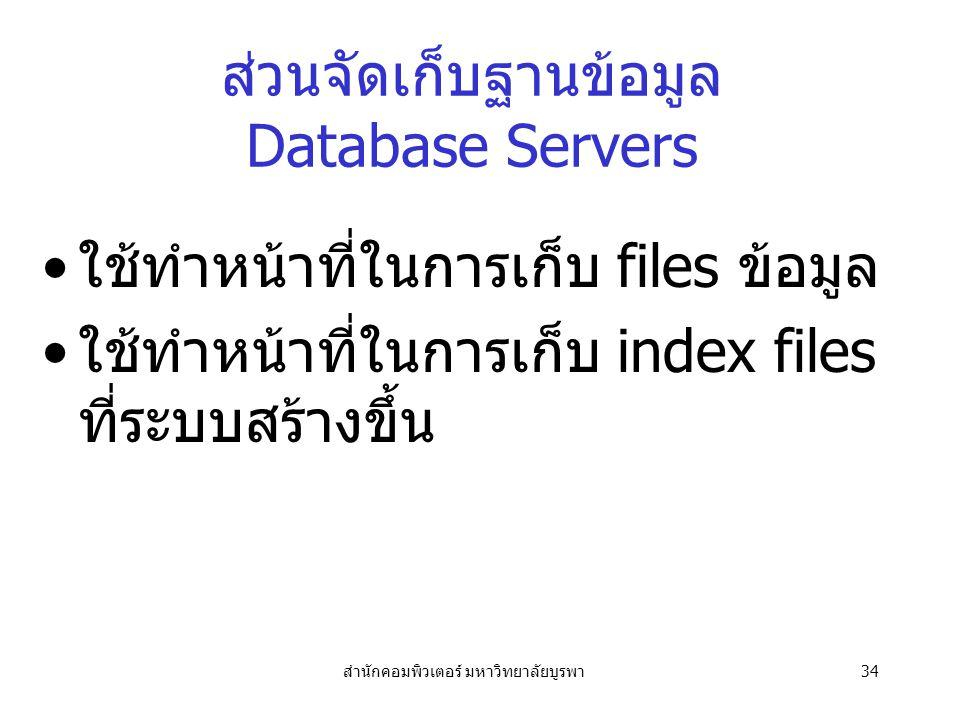 ส่วนจัดเก็บฐานข้อมูล Database Servers