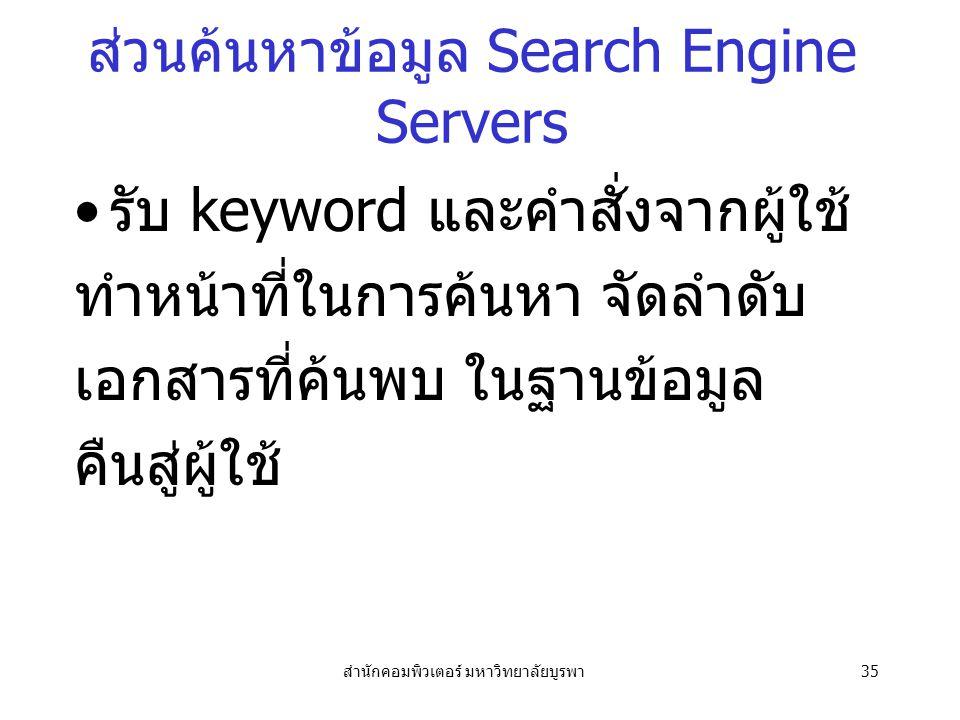 ส่วนค้นหาข้อมูล Search Engine Servers