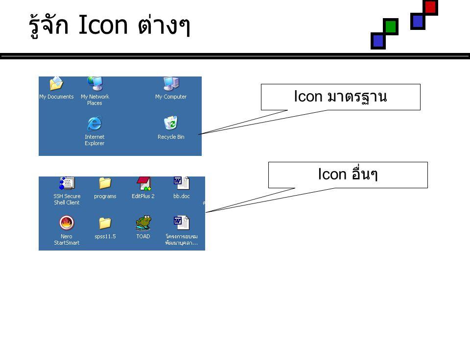 รู้จัก Icon ต่างๆ Icon มาตรฐาน Icon อื่นๆ