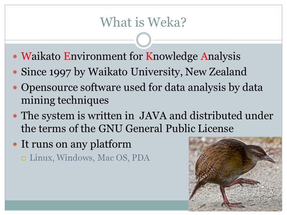 What is Weka Waikato Environment for Knowledge Analysis