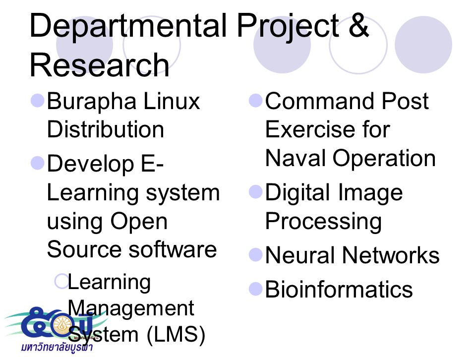 Departmental Project & Research