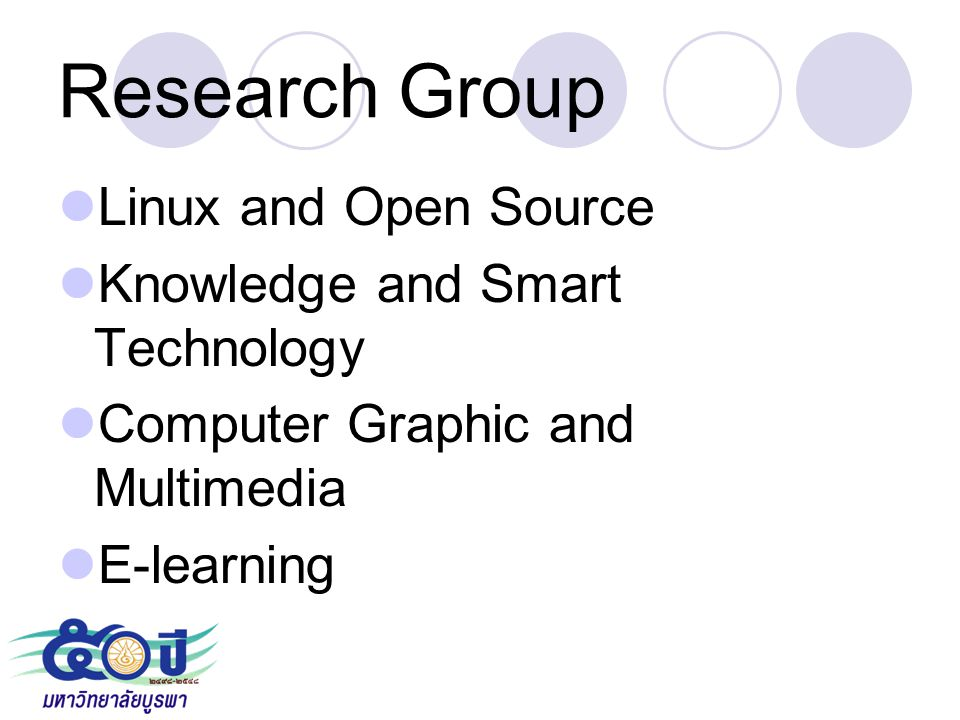 Research Group Linux and Open Source Knowledge and Smart Technology