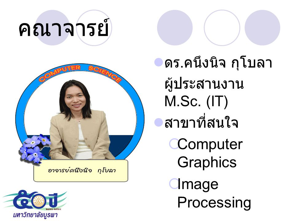 คณาจารย์ Computer Graphics Image Processing ดร.คนึงนิจ กุโบลา