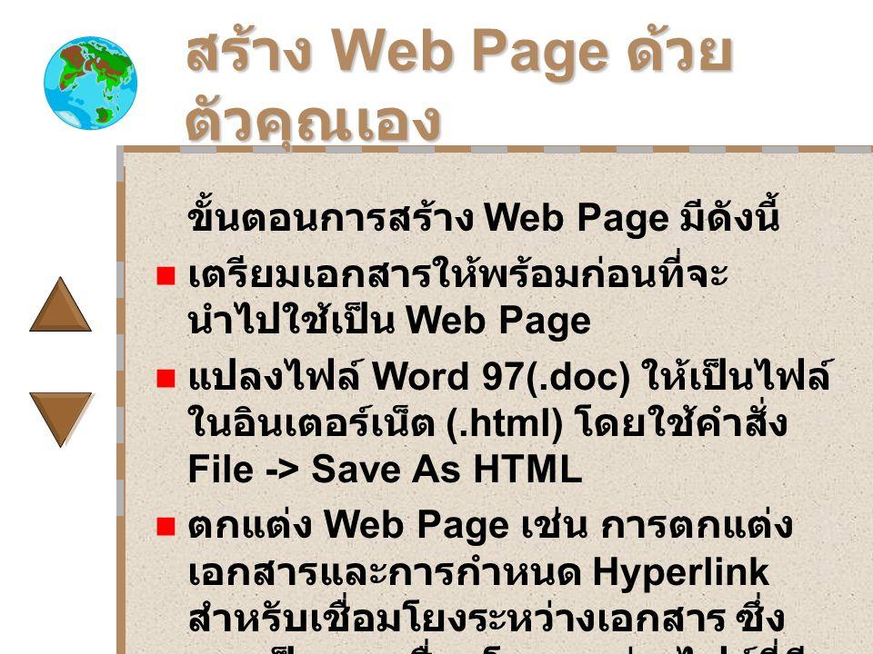 สร้าง Web Page ด้วยตัวคุณเอง
