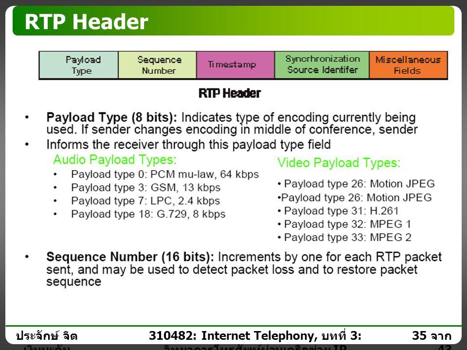 310482: Internet Telephony, บทที่ 3: วิทยาการโทรศัพท์ผ่านเครือข่าย IP