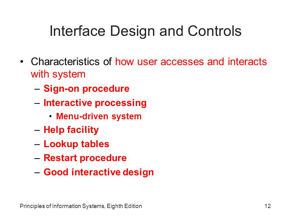 Interface Design and Controls