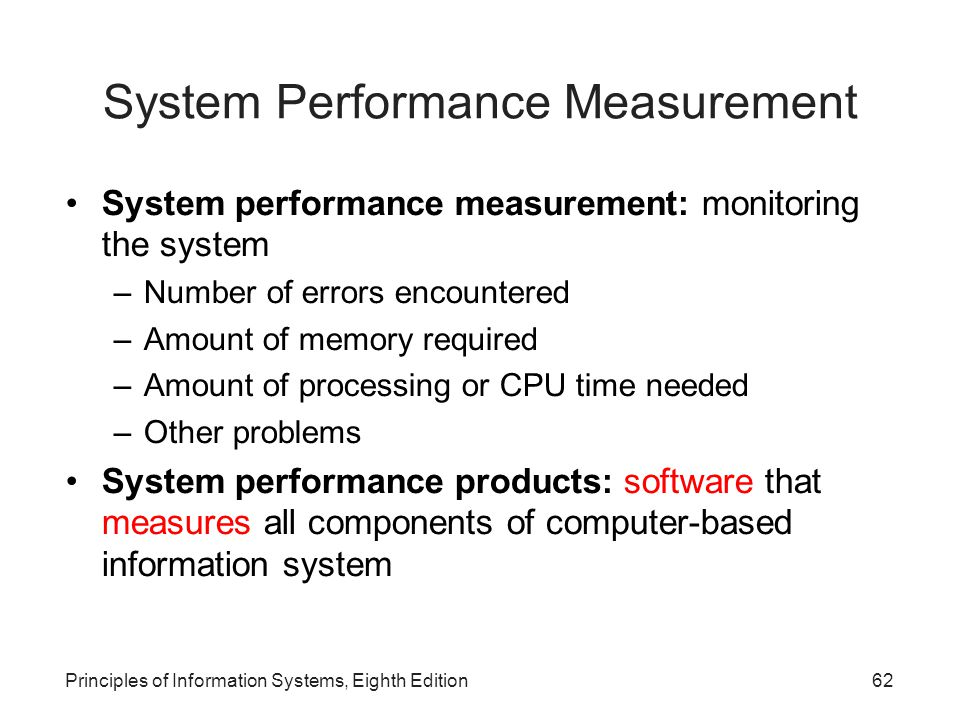 System Performance Measurement