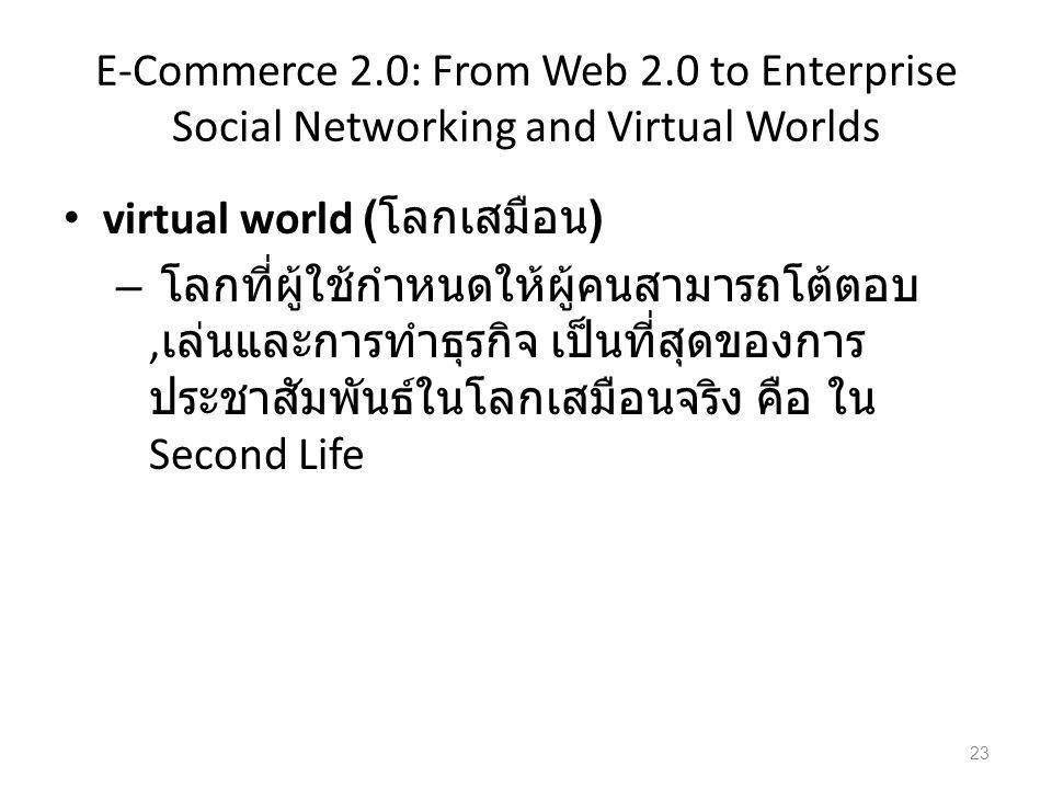 virtual world (โลกเสมือน)
