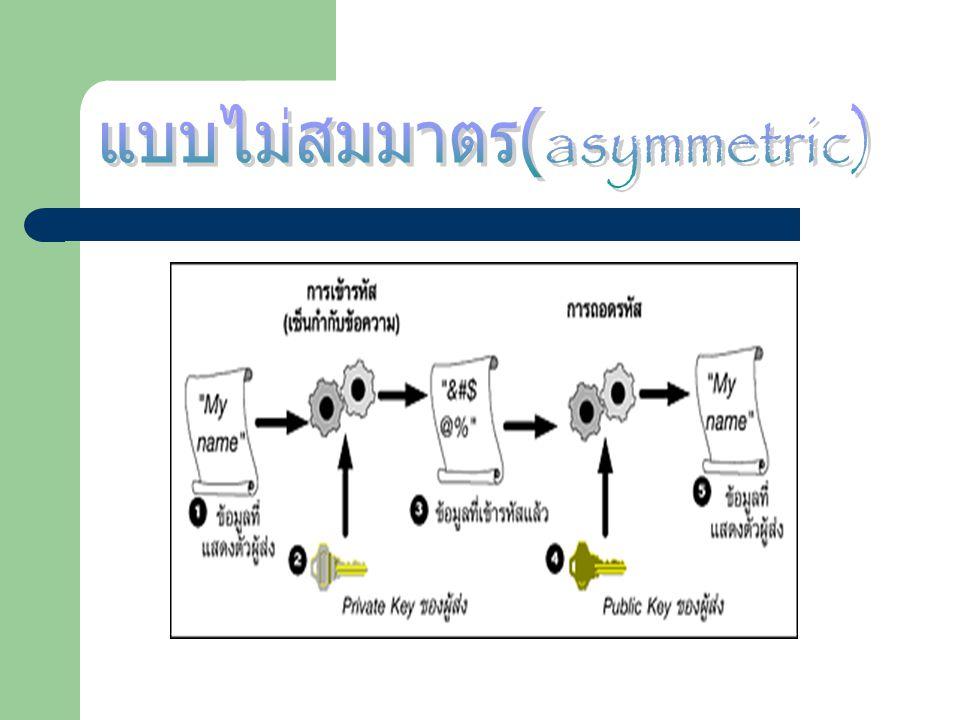 แบบไม่สมมาตร(asymmetric)