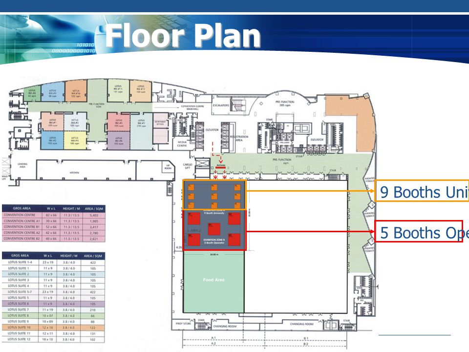 Floor Plan 9 Booths University 5 Booths Operator
