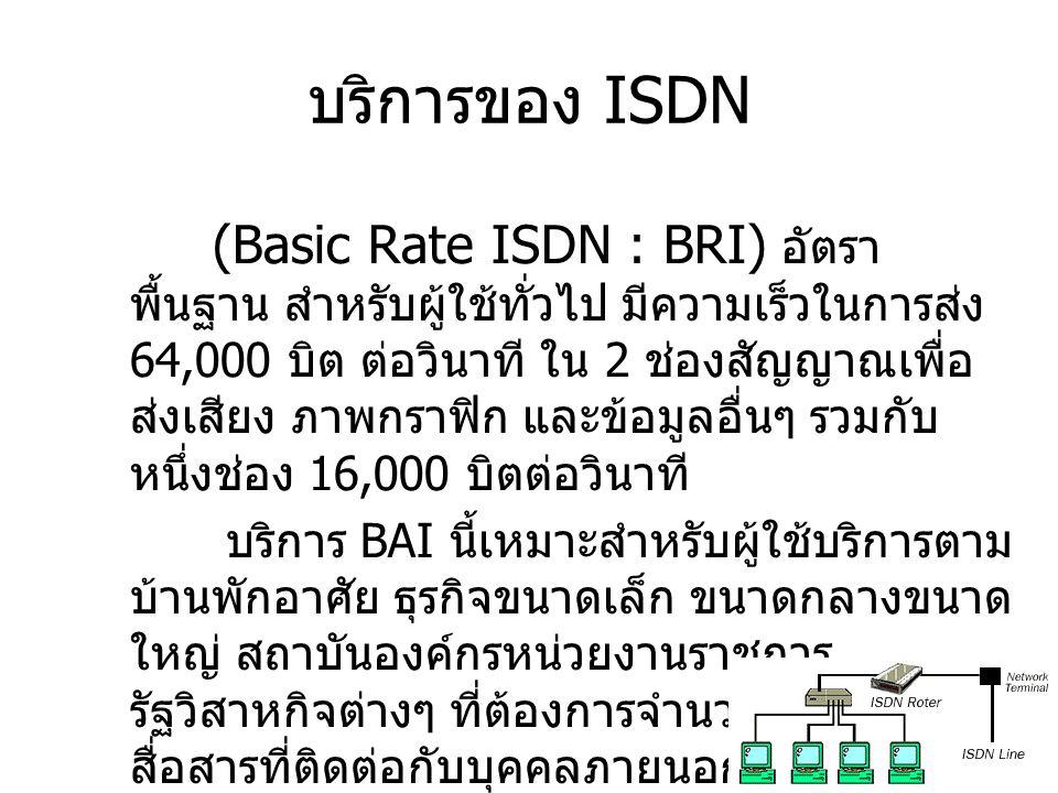 บริการของ ISDN