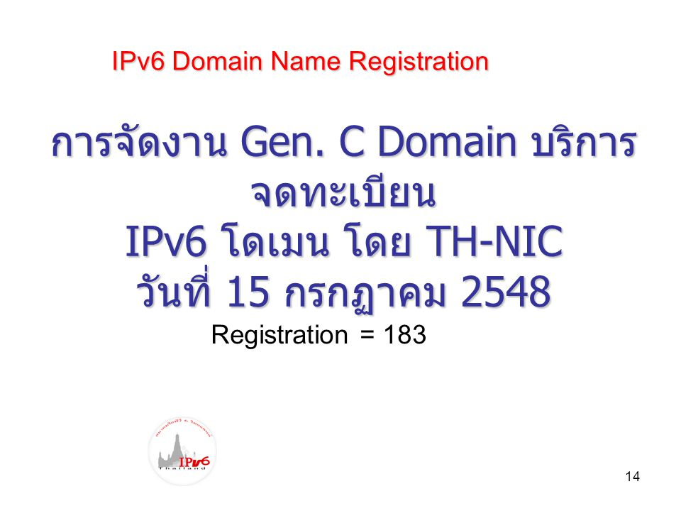IPv6 Domain Name Registration