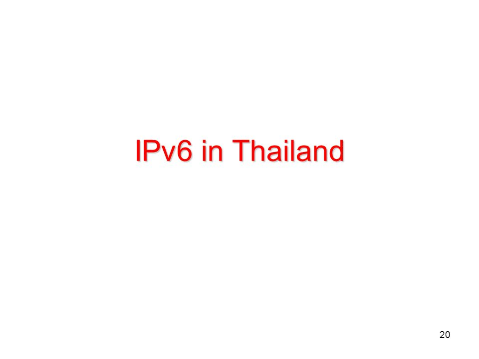 IPv6 in Thailand