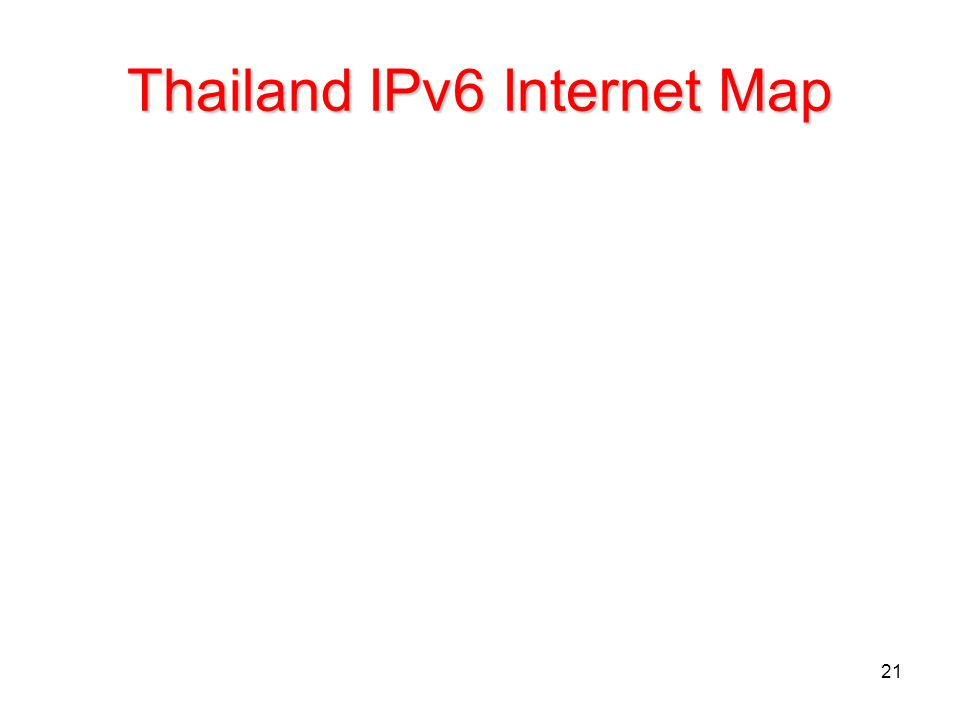 Thailand IPv6 Internet Map